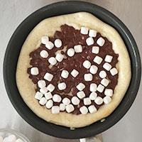 マシュマロとチョコのフライパンピザ ⑫