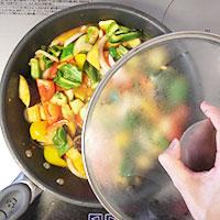 夏野菜とかじきまぐろのオーブン焼き⑤