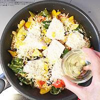 夏野菜とかじきまぐろのオーブン焼き⑥