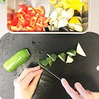 夏野菜とかじきまぐろのオーブン焼き①
